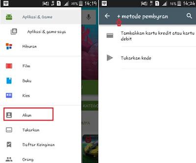 Pengisian Kode Voucher Google Play Android