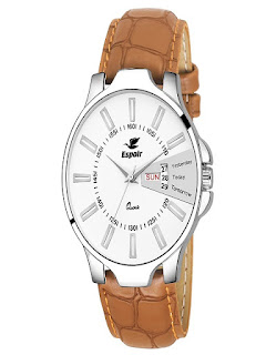 Amazon India Offer  Buy Espoir Exclusive Series White Dial Day & Date Analogue Boys And Mens Watch at Rs.349