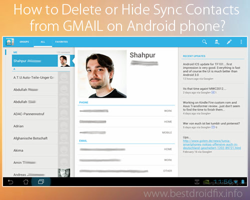 How to Delete or Hide Sync Contacts from GMAIL on Android phone? - Best Droid Fix