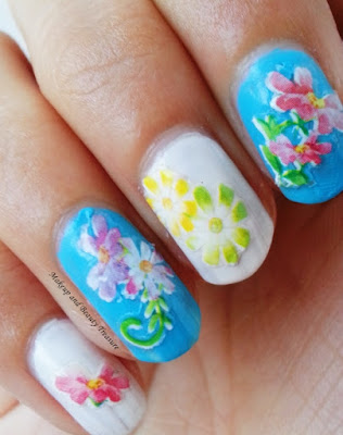 floral nail art stickers