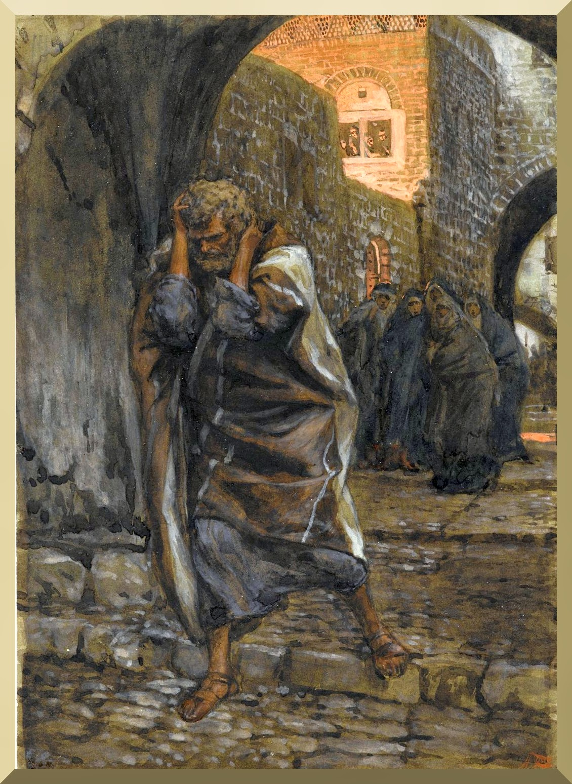 """The Sorrow of Saint Peter"" -- by James Tissot"