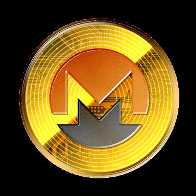 仮想通貨モネロのフリー素材(金貨ver)