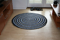 Zpaghetti hæklet gulvtæppe spiral