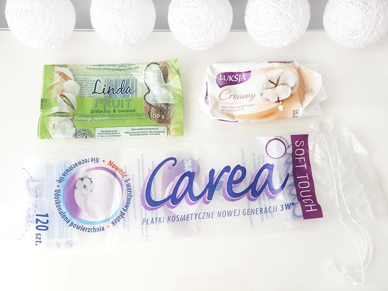 Linda pistacja i kokos, Luksja creamy, płatki carea