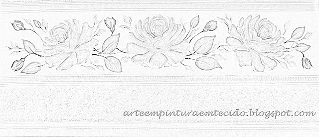 risco gráfico desenho pintura em tecido