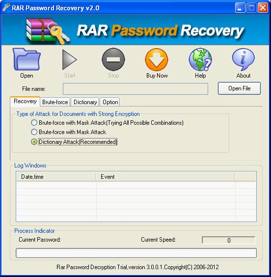 rar password recovery serial key