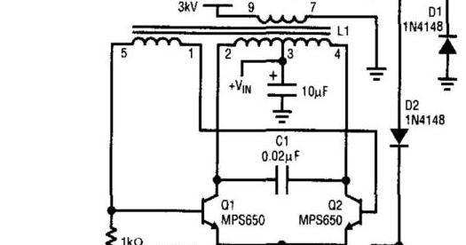 Schematic Diagram: Simple Cold Cathode Fluorescent Lamp