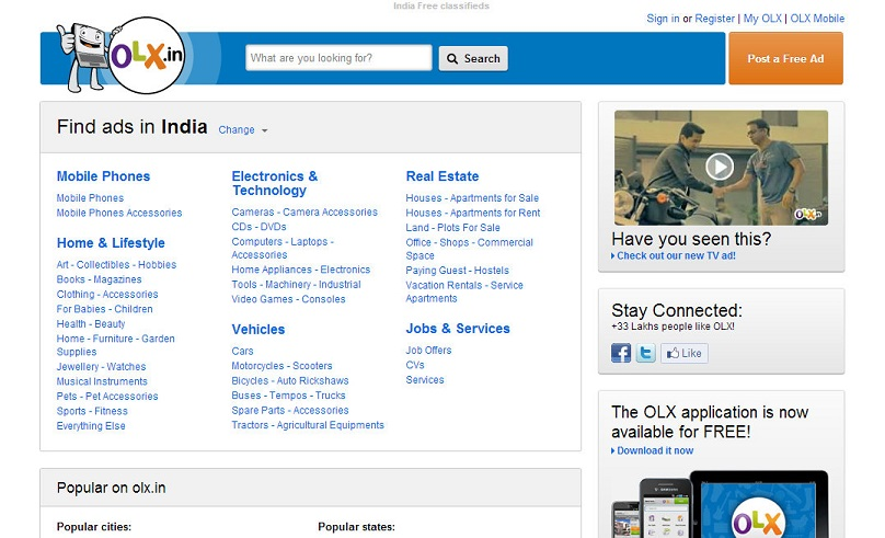 OLX in Free Online Classifieds Site in IndiaEverything-That Matters