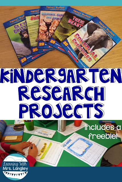 Research projects can happen in kindergarten! Here are some easy lessons that will get your students writing about animals they love. There is a free worksheet included that students can use in a center or during whole group writing time.