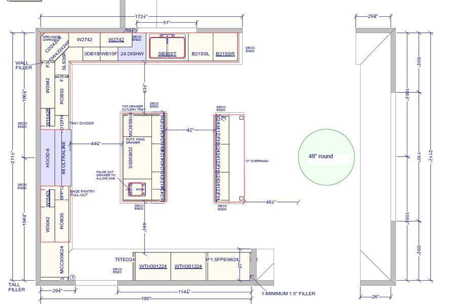 Image Result For Minimum Distance Between Kitchen Island And Counter