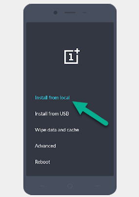 Install Firmware From Local OnePlus
