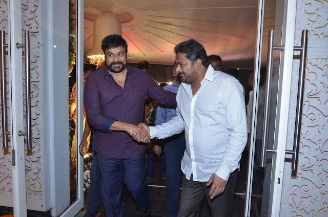 chiranjeevi at shyam prasad reddy daughter wedding
