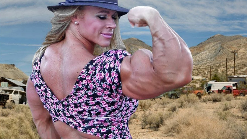 Top 4 Biggest and amazing Female Bodybuilders 2019 : 2. Aleesha Young