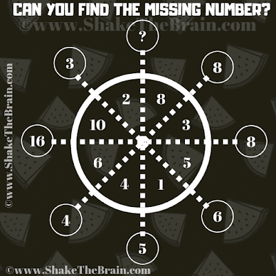 In this Logic Puzzles with Numbers, your challenge is to find the missing number