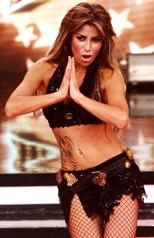 Foto de Milena Zárate bailando en El Gran Show