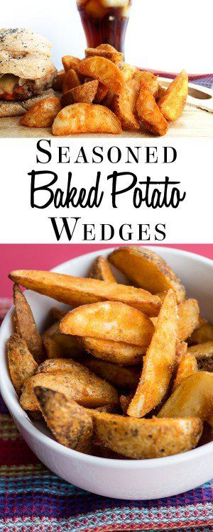 This super simple recipe for Seasoned Baked Potato Wedges is great for fussy kids.  It turns an ordinary potato into delicious homemade wedges.