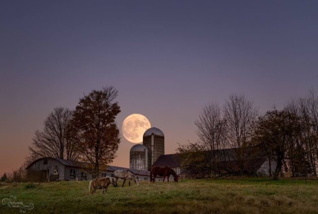 supermoon 4 di Milton, Vermont