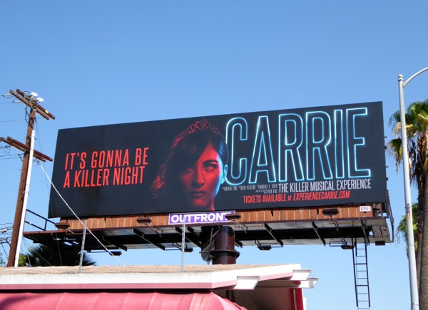 Carrie killer musical experience billboard