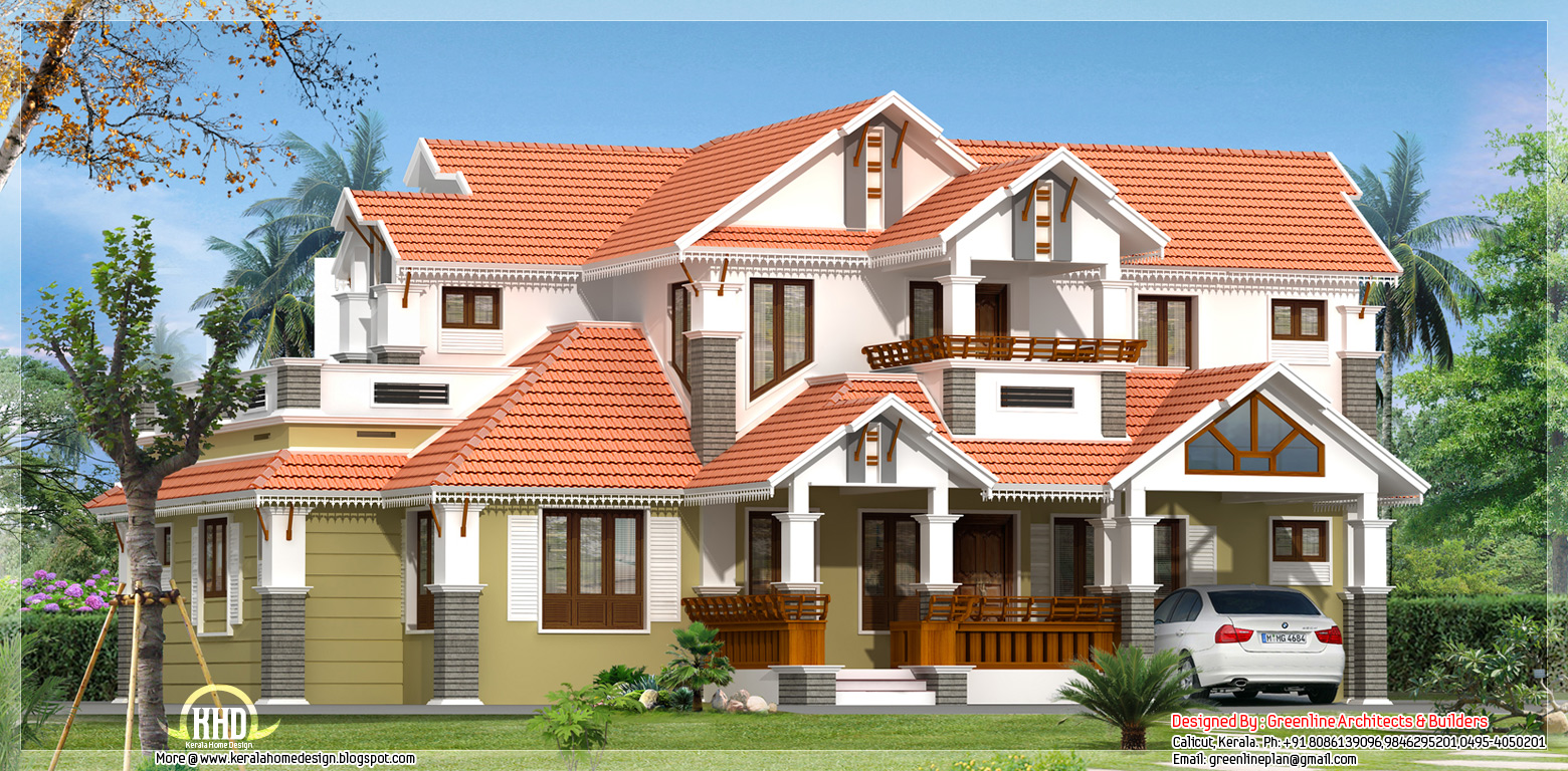 Traditional mix 4 bedroom kerala home design kerala home for Kerala traditional home plans with photos