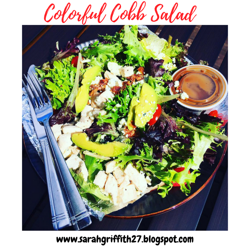 healthy salad, cobb salad, sarah griffith, maple balaslmic dressing, gluten free salad,