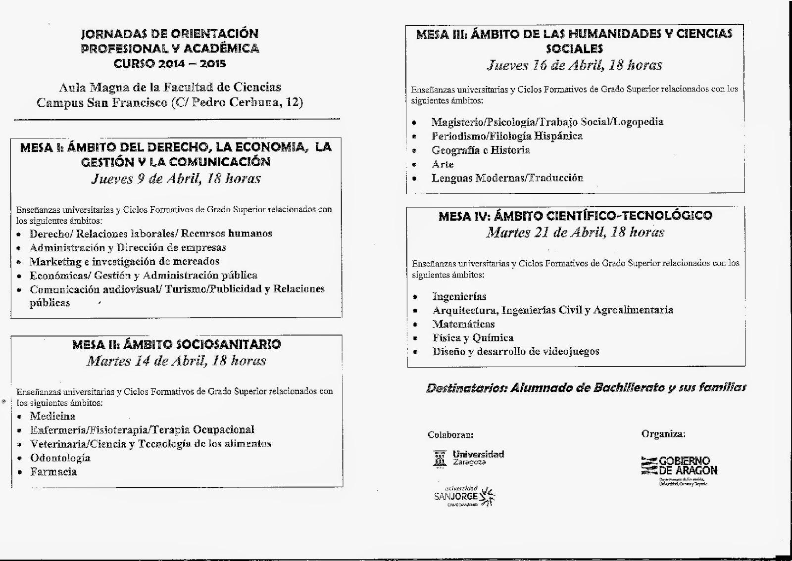 Ampa Ies Goya Zaragoza Hoy Comienzan Las Jornadas De