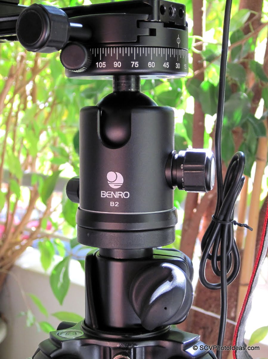 Benro PC-1 Panorama clamp on Benro B-2 ball head direct