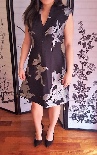 Apt 9 Floral Scuba Flare dress