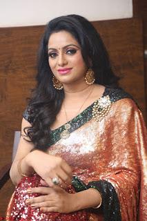 Udaya Bhanu lookssizzling in a Saree Choli at Gautam Nanda music launchi ~ Exclusive Celebrities Galleries 018.JPG