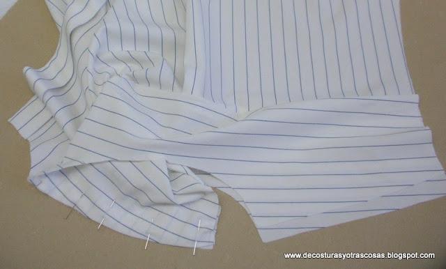 como coser un canesú con costuras ocultas