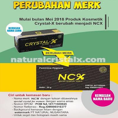 Perubahan merek Crystal X menjadi NCX