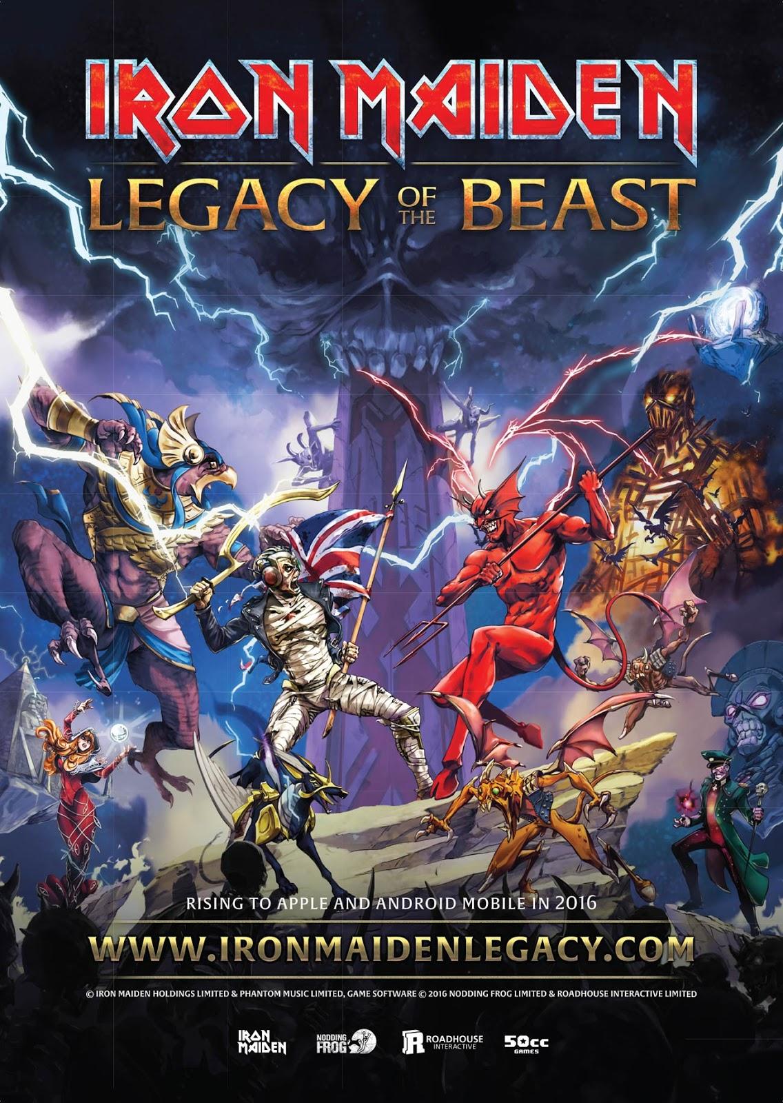 Legacy of the Beast: Iron Maiden lançará novo game do