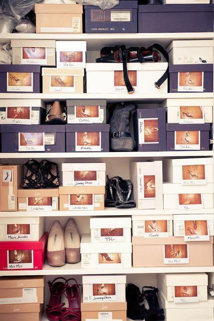 25 ideas para organizar los zapatos en tu hogar