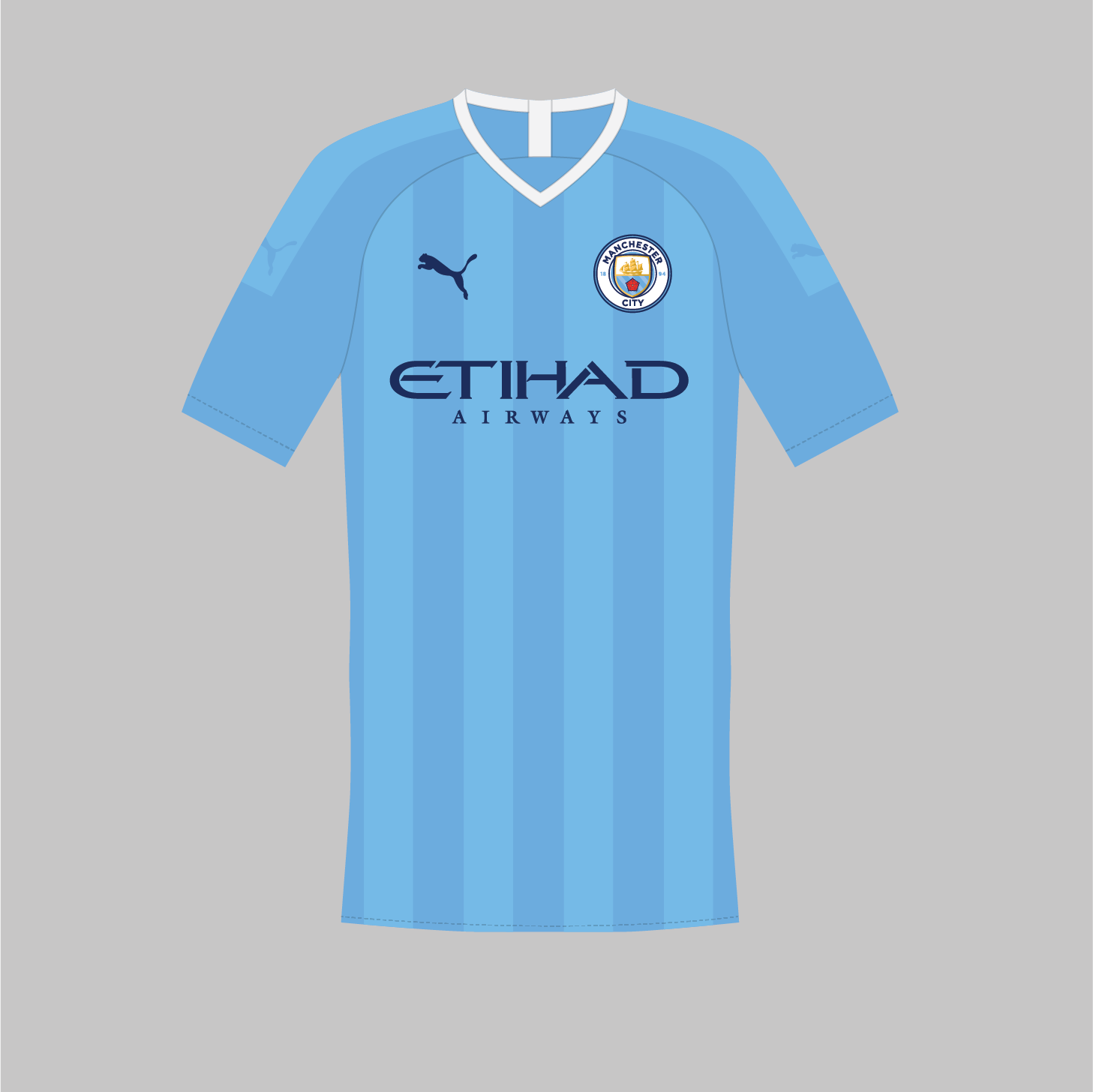feb85d692 Puma Manchester City 19-20 Home & Away Kit Concepts by hendocfc ...