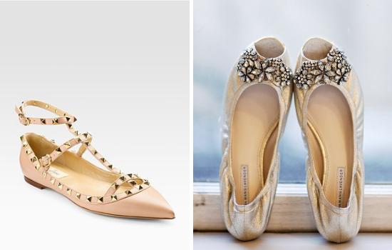 Ballerine per la sposa, Valentino, Vera Wang, bridal flats