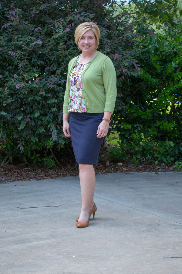 spring office outfit, summer office outfit, cardigan work outfit
