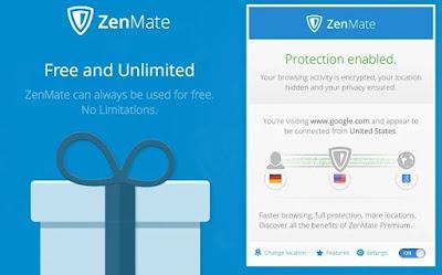 ZenMate - Πλοηγηθείτε στο διαδίκτυο με «άλλη» ταυτότητα!