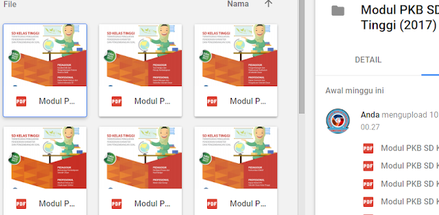google drive modul sd kelas atas