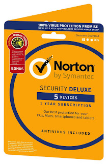 99% recommended from online threats 2017 Norton Security Deluxe 3.0 PC/Mac £18.99