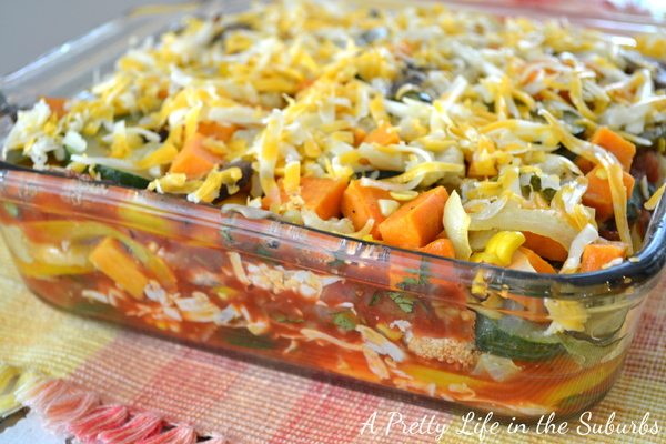 Roasted Vegetable Tortilla Lasagna