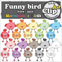 Funny Bird Clip Art