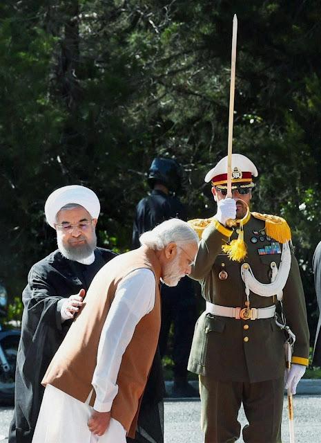 وزیراعظم نریندر مودی کی ایرانی صدر حسن روحانی سے ملاقات