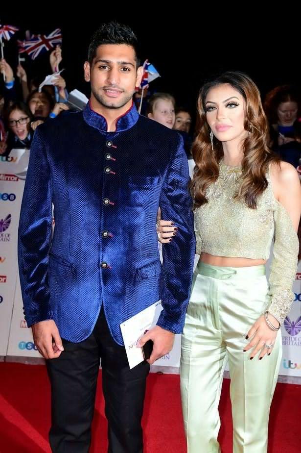 Amir Kahn and wife