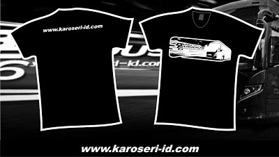 "Kaos Karoseri Indonesia ""Bus & Furious 6"" Black"