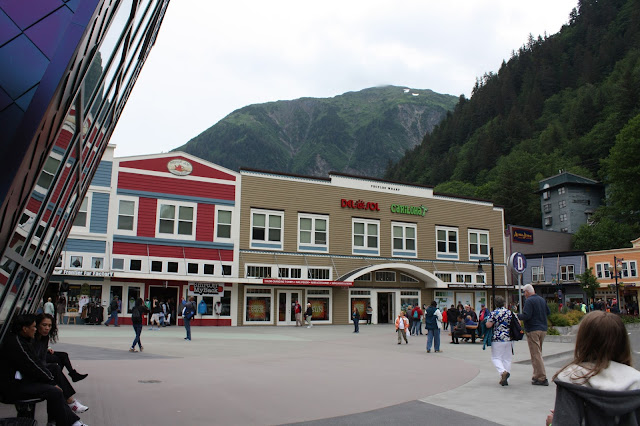 Typical cruise shops in Juneau--search further into the city.