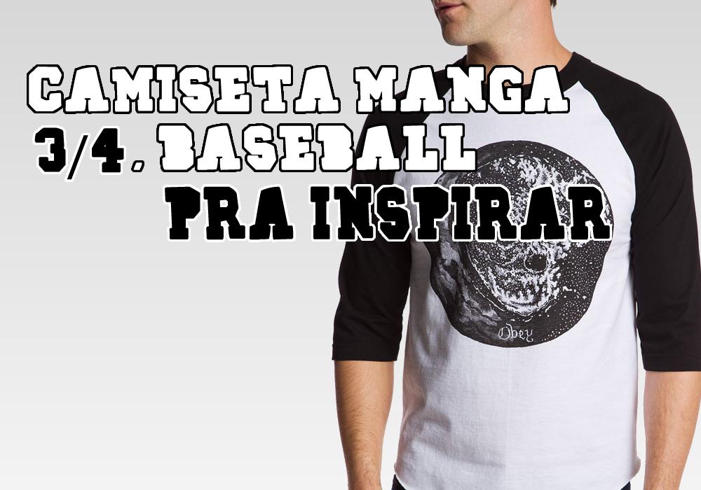 A camiseta Raglan é super conhecida por ser bem marcante 1aba7c7485ce7