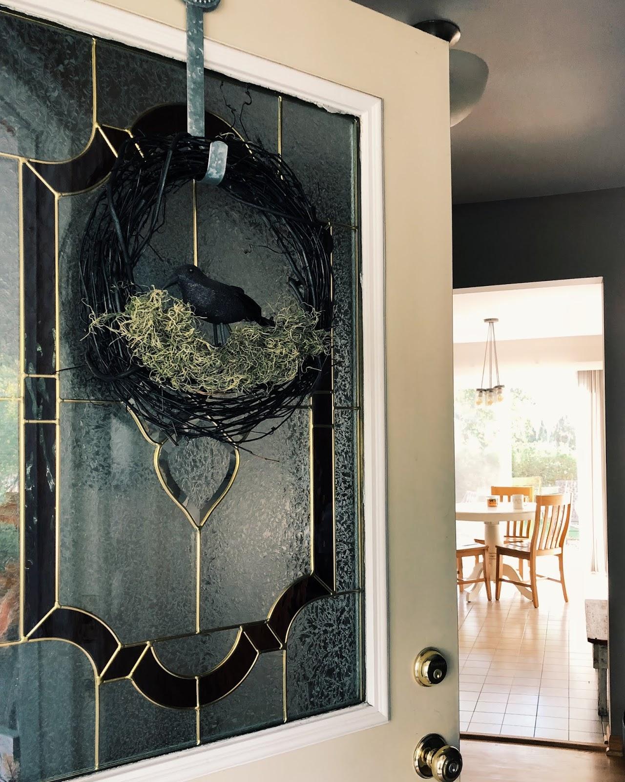 DIY Crow Wreath