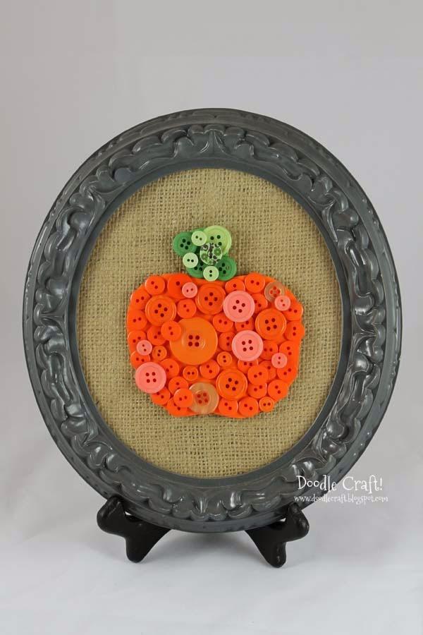 Doodlecraft Pumpkin Buttons
