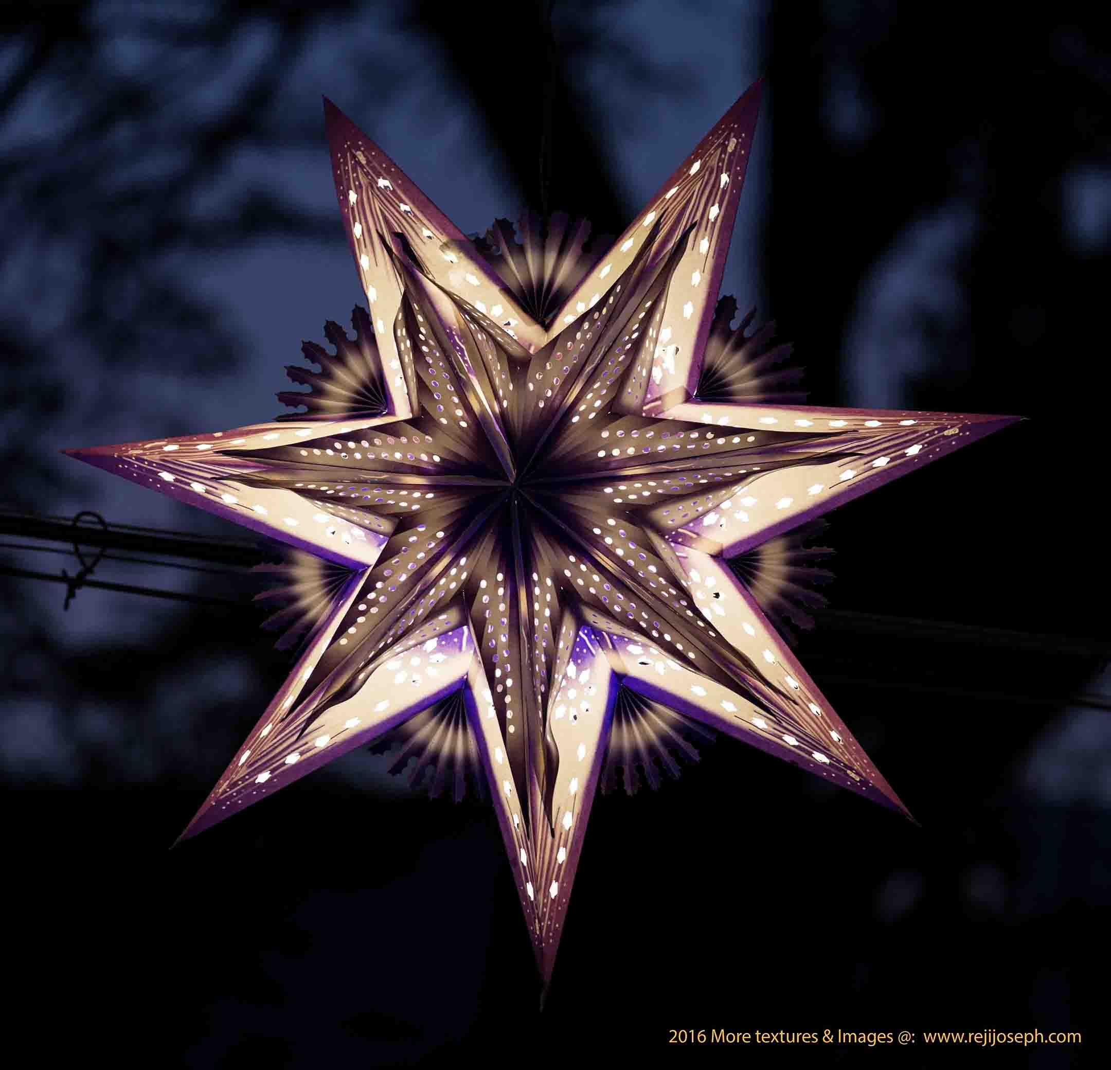 Christmas star Illumination light decoration 00009
