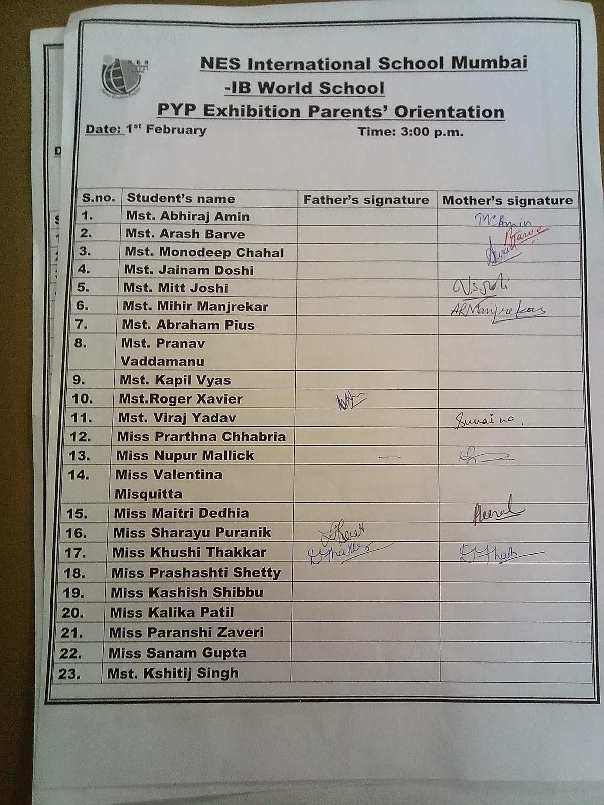 Nesism 14 Pyp Exhibition Pyp Exhibition Parent Orientation