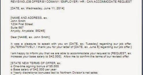 Revised Salary Offer Letter